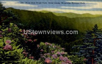 Pulpit Point - Great Smoky Mountains National Park, North Carolina NC Postcard