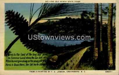 The Old North State Toast - Greensboro, North Carolina NC Postcard