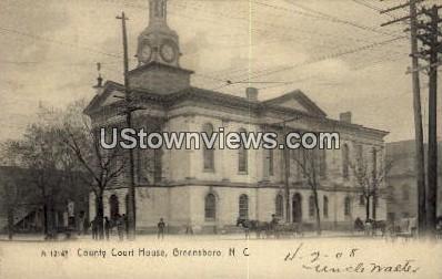 County Court House - Greensboro, North Carolina NC Postcard
