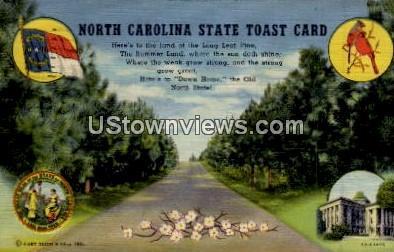 N. C. State Toast Card - Misc, North Carolina NC Postcard
