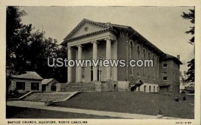 Baptist Church - Hertford, North Carolina NC Postcard
