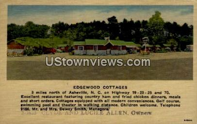 Edgewood Cottages - Asheville, North Carolina NC Postcard