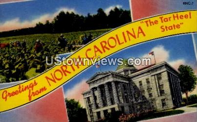 Greetings From - Misc, North Carolina NC Postcard