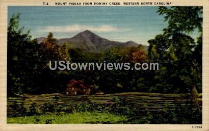 Mount Pisgah from Hominy Creek - Misc, North Carolina NC Postcard