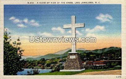 A Close-Up View of the Cross - Lake Junaluska, North Carolina NC Postcard