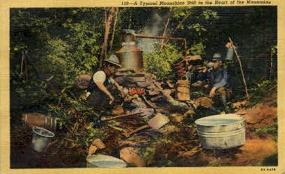 A Typical Moonshine Still - Misc, North Carolina NC Postcard