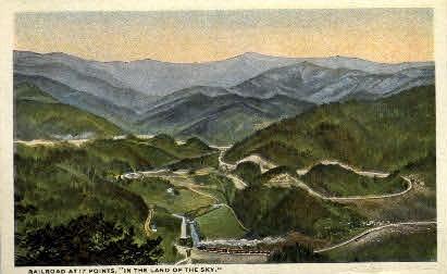 Railroad at 17 Points - Misc, North Carolina NC Postcard