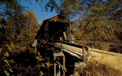 Covered Bridge - Misc, North Carolina NC Postcard