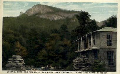 Chimney Rock - Misc, North Carolina NC Postcard