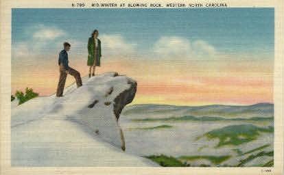 Mid-Winter at Blowing Rock - Misc, North Carolina NC Postcard