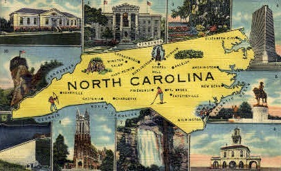 North Carolina - Misc Postcard