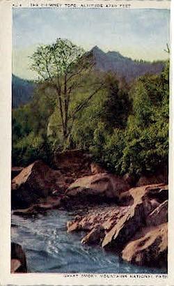 The Chimney Tops - Misc, North Carolina NC Postcard