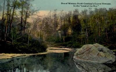 Crystal Stream - Misc, North Carolina NC Postcard