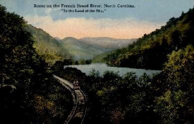 French Broad River - Misc, North Carolina NC Postcard