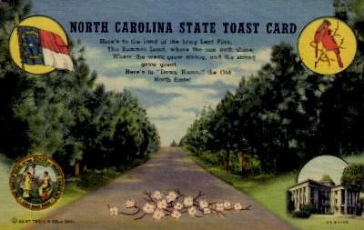 North Carolina State Toast Card - Misc Postcard