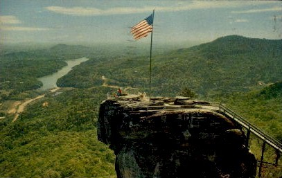 The Top of Chimney Rock - Misc, North Carolina NC Postcard
