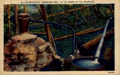Moonshine Still - Misc, North Carolina NC Postcard
