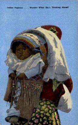 Indian Papoose - Misc, North Carolina NC Postcard
