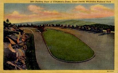 Parking Place at Clingman's Dome - Misc, North Carolina NC Postcard
