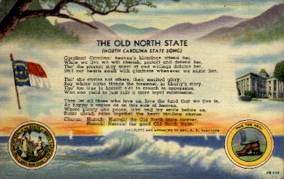 The Old North State - Misc, North Carolina NC Postcard