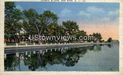 Council Bluffs - New Bern, North Carolina NC Postcard