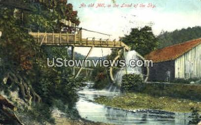 Old Mill in the Land of the Sky - Misc, North Carolina NC Postcard