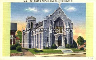 First Christian Church - Asheville, North Carolina NC Postcard