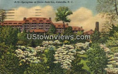 Springtime atd Grove Park Inn - Asheville, North Carolina NC Postcard