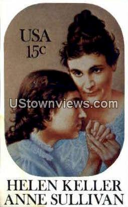 Helen Keller and Anne Sullivan - Misc, North Carolina NC Postcard