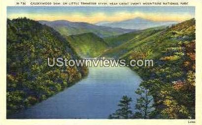 Calderwood Dam on Tennessee River - Great Smoky Mountains National Park, North Carolina NC Postcard
