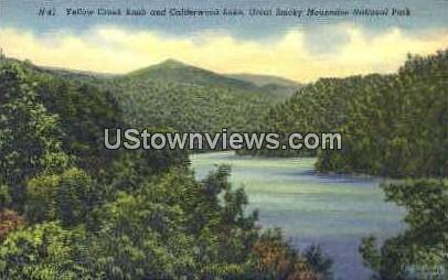 Yellow Creek Knob and Calderwood Lake - Great Smoky Mountains National Park, North Carolina NC Postcard