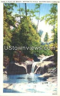 A Place of Beauty, Bottomless Pools - Misc, North Carolina NC Postcard