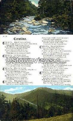 Carolina Poem - Misc, North Carolina NC Postcard