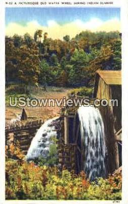 Old Water Wheel During Indian Summer - Misc, North Carolina NC Postcard