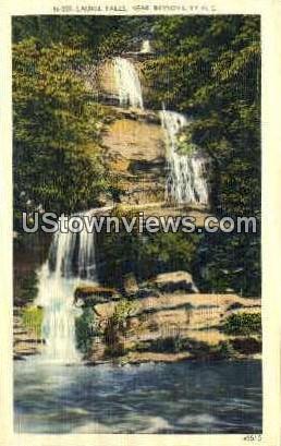 Laurel Falls - Bryson City, North Carolina NC Postcard