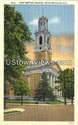 First Baptist Church - Winston-Salem, North Carolina NC Postcard