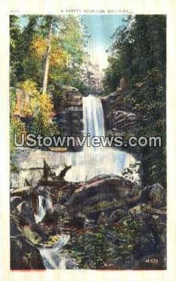 A Pretty Mountain Waterfall - Misc, North Carolina NC Postcard