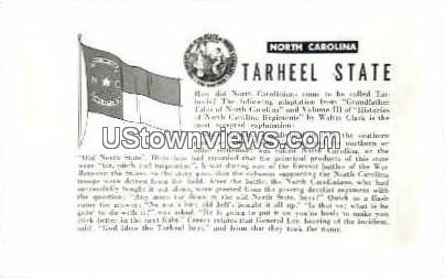 Tarheel State - Misc, North Carolina NC Postcard
