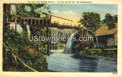 An Old Water Wheel - Misc, North Carolina NC Postcard