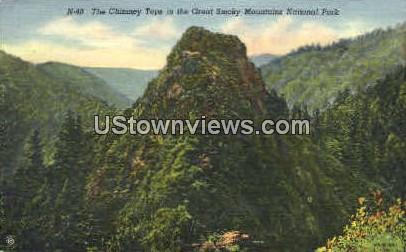 The Chimney Tops - Great Smoky Mountains National Park, North Carolina NC Postcard