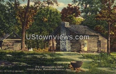 Mountaineer's Cabin - Great Smoky Mountains National Park, North Carolina NC Postcard