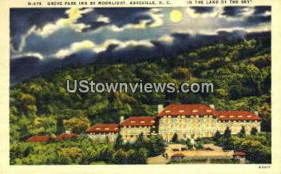 Grove Park Inn by Moonlight - Asheville, North Carolina NC Postcard