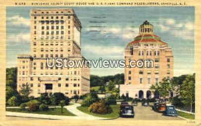 U.S. Flight Command Headquarters - Asheville, North Carolina NC Postcard