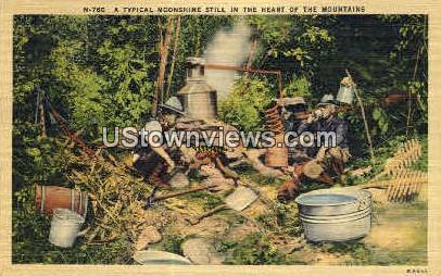 Typical Moonshine Still - Misc, North Carolina NC Postcard
