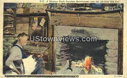 150-year Old Fire - Misc, North Carolina NC Postcard