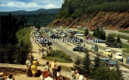 Parking Place at Newfound Gap - Great Smoky Mountains National Park, North Carolina NC Postcard