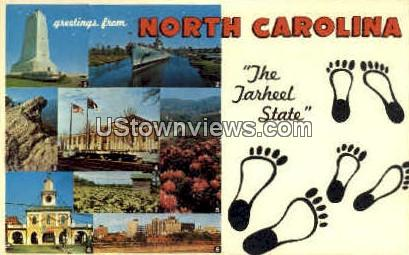 Greetings from The Tarheel State - Misc, North Carolina NC Postcard