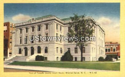 View of Forsyth County Court House - Winston-Salem, North Carolina NC Postcard