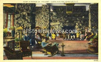 A Portion of The Lobby of Grove Park Inn - Asheville, North Carolina NC Postcard