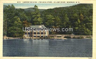Lakeside Building on Lake Susan - Montreat, North Carolina NC Postcard
